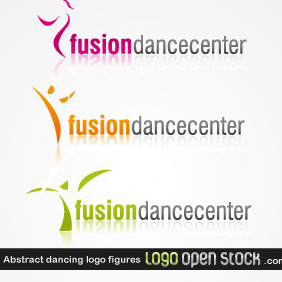 Abstract Dancing Logo Figures - Free vector #219267