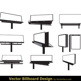 Blank Billboards - vector gratuit #219517
