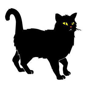 Black Cat Vector - vector #219587 gratis