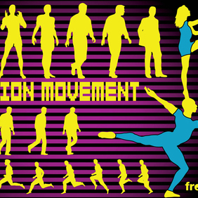 Action Movement - vector #219937 gratis