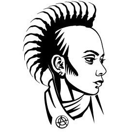 Punk Girl Vector Profile - Free vector #219977