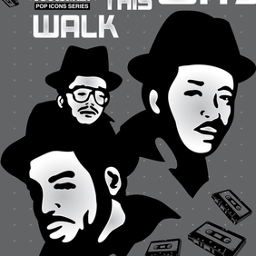 Run-DMC - Free vector #220007