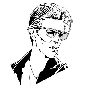 David Bowie Vector Image - бесплатный vector #220177