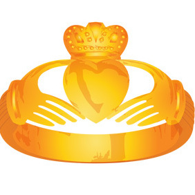 Claddagh Rings - Gold And Silver - vector gratuit #220237