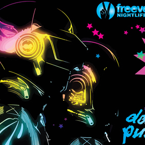Daft Punk Graphics - vector gratuit #220297