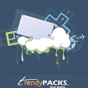 Trendy Clouds Vectors - бесплатный vector #220427