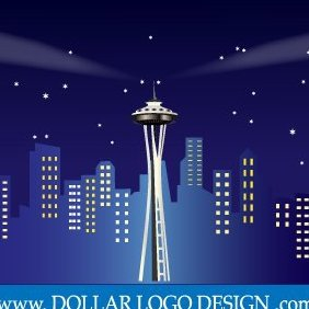 Seattle Washington Space Needle - бесплатный vector #220457