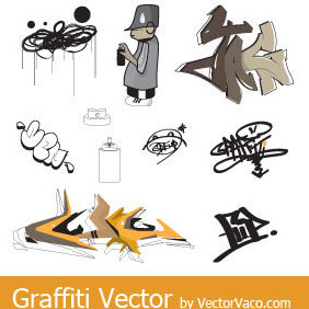 Graffiti Vectors - бесплатный vector #220507