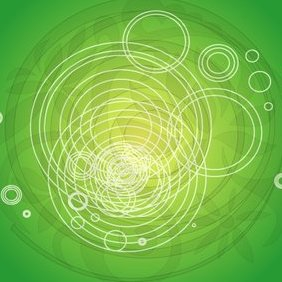 Abstract Green Vector IIII - Free vector #220577
