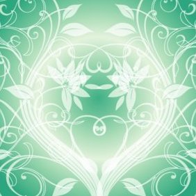Swirly Dark Green Background - vector #220677 gratis