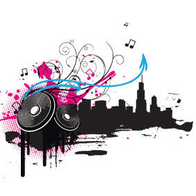 Music Illustration - vector #220717 gratis