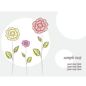 Free Vector Flower Doodles - бесплатный vector #220867