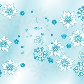 Blue Flowers - vector gratuit #220947