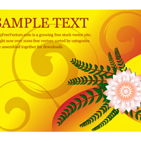 Flower Greeting Card Vector - vector gratuit #221197