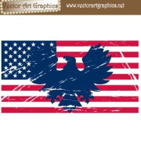 American Flag Vector Art - бесплатный vector #221317