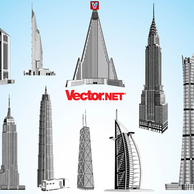 Skyscraper Vector Pack 3. - бесплатный vector #221327