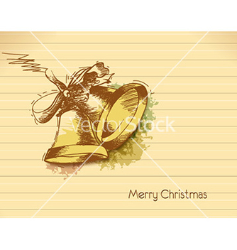 Free christmas with bells vector - vector #221357 gratis