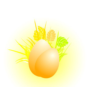 Floral Easter Eggs - Free vector #221447