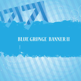 Blue Banner Vector - Free vector #221487