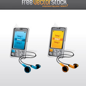 Music Phones - Free vector #221537