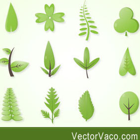 Green Leaves Vector - бесплатный vector #221597