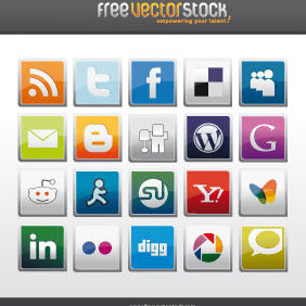 Social Icons Pack - Free vector #221727
