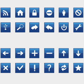 Blue Icons - Free vector #221777