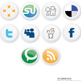 Social Button Vectors - vector #221807 gratis