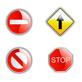 Traffic Signs - vector gratuit #221827