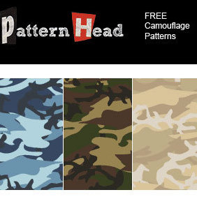 Free Seamless Camouflage Patterns - бесплатный vector #221887