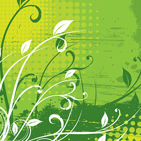 Floral Background - vector #221917 gratis