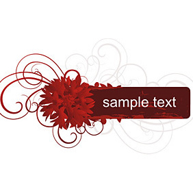 Red Banner - Free vector #221977