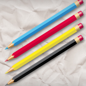 Pen Set Freebie - Free vector #222117