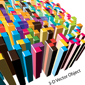 3-D Vector Object - Free vector #222197
