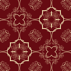 Seamless Flower Pattern-5 - vector gratuit #222267