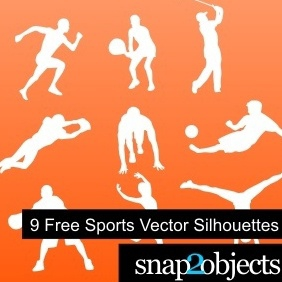 9 Free Sports Vector Silhouettes - бесплатный vector #222297