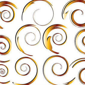 Swirl - Ornaments - vector gratuit #222307