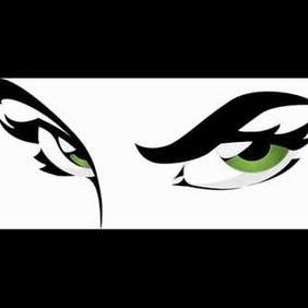 Green Eyes - vector gratuit #222447
