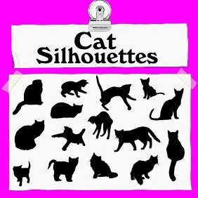 Cat Silhouettes - Free vector #222477