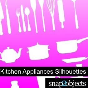 Kitchen Appliances Silhouettes - Kostenloses vector #222487