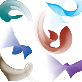 Flowing Curves Set-1 - Free vector #222577