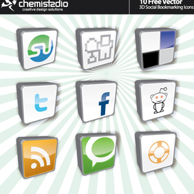 Social Bookmarking Icons - vector #222757 gratis