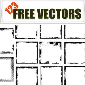 Grunge Photo Frames - vector gratuit #222907