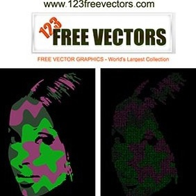 Pop Art Face - Free vector #222927