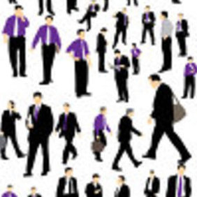 Businessman Silhouette - vector #223007 gratis