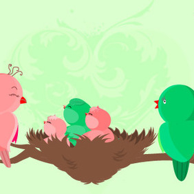 Baby Birds Are Born - Free vector #223027