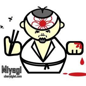 Mr Miyagi Cartoon Vector - vector gratuit #223077