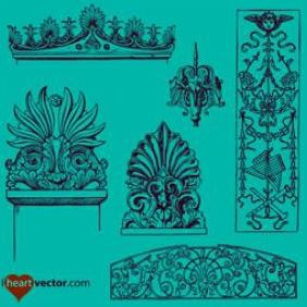 Ornaments Vector Pack - Kostenloses vector #223277
