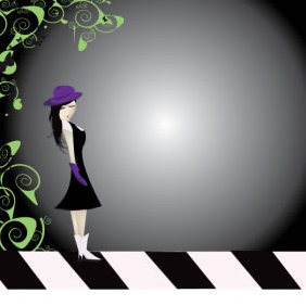 Purple Girl - vector gratuit #223437