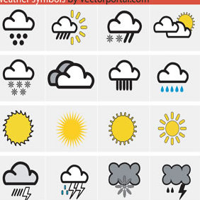 Weather Symbols - vector gratuit #223477